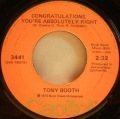 Tony Booth-Lonesome 7-7203 / Congratulations, You're Absolutely Right