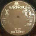 Paul McCartney-Pipes Of Peace / So Bad