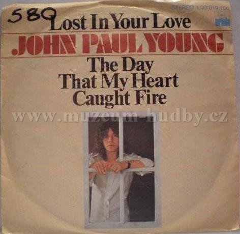 "John Paul Young: The Day That My Heart Caught Fire / Lost In Your Love - Vinyl(45"" Single)"