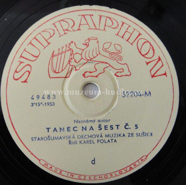 """ANNA KUCEROVA - KAREL POLATA: HRADECKY PANENKY / TANEC NA SEST C 5 - Vinyl(78"""" LP - šelak)"""