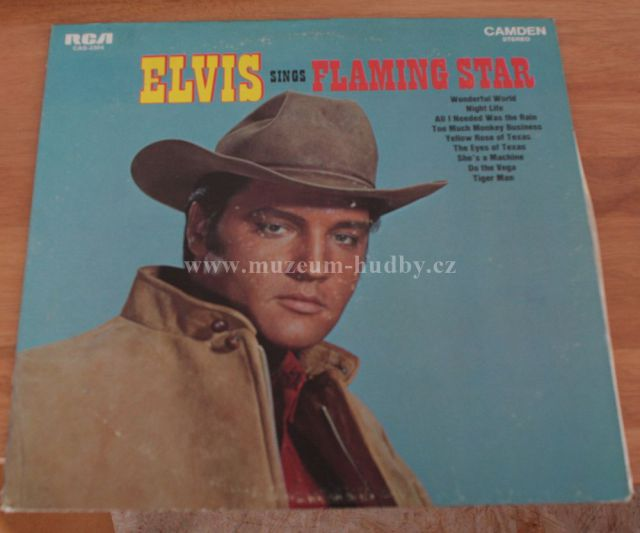 "Elvis Presley: Elvis sings Flaming Star - Vinyl(33"" LP)"