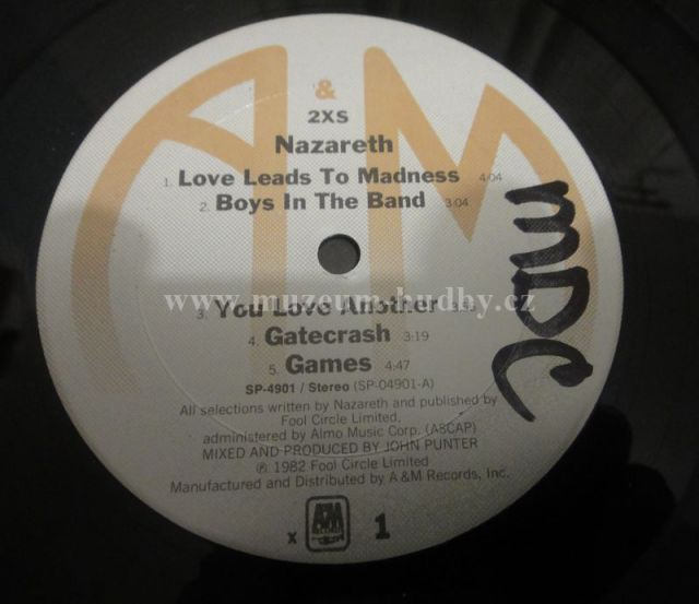 Nazareth 2xs Online Vinyl Shop Gramofonov 233 Desky