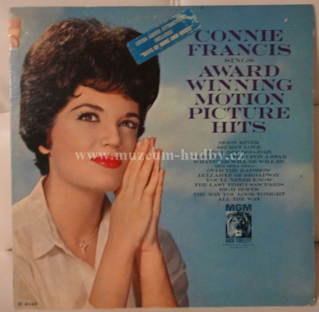 """Connie Francis: SINGS AWARD WINNING MOTION PICTURE HITS - Vinyl(33"""" LP)"""