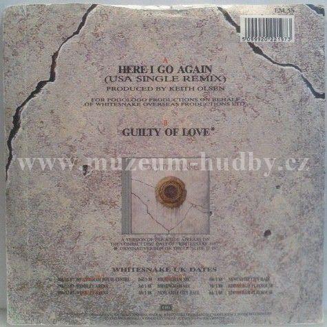Whitesnake Here I Go Again Guilty Of Love Online Vinyl