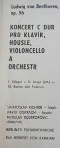 Ludwig Van Beethoven [ Stanislav Richter , David Oistrach , Mstislav Rostopovic]-KONCERT C DUR