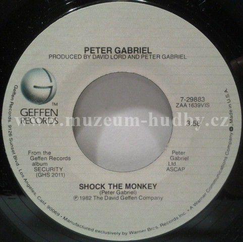 "Peter Gabriel : Shock The Monkey / Soft Dog - Vinyl(45"" Single)"