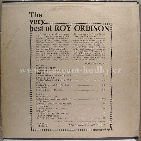 Roy Orbison The Very Best Of Roy Orbison Online Vinyl
