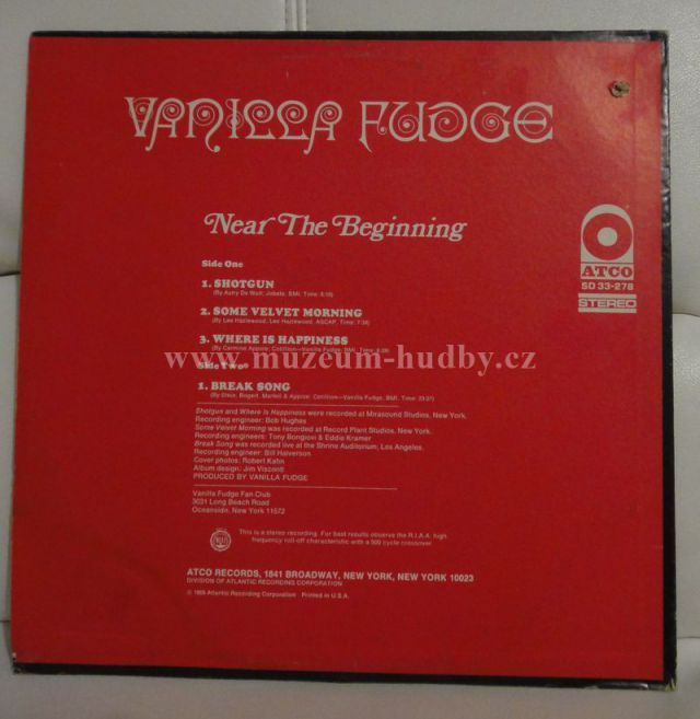Vanilla Fudge Near The Beginning Online Vinyl Shop