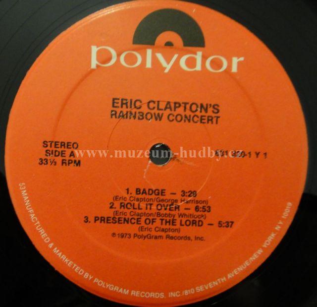 Eric Clapton Rainbow Concert Online Vinyl Shop