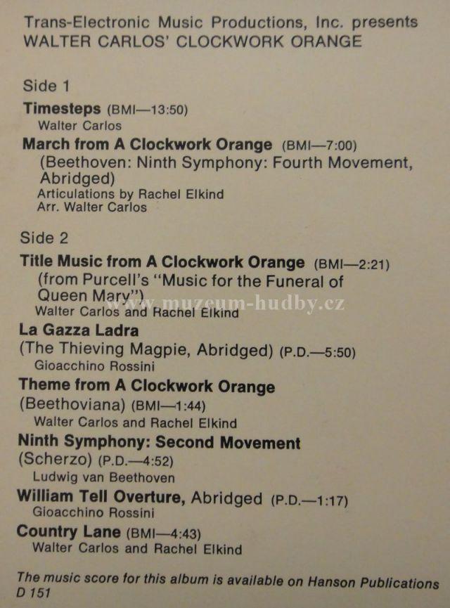 Walter Carlos Walter Carlos Clockwork Orange Online