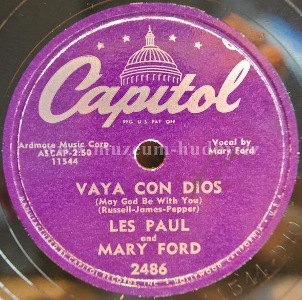 """Les Paul And Mary Ford: Vaya Con Dios / Johnny - Vinyl(78"""" LP - šelak)"""