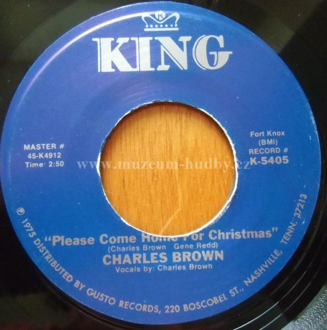 """Charles Brown / Amos Miburn: Please Come Home for Christmas (with Bill Doggett) / Christmas (Comes But Once A Year) - Vinyl(45"""" Single)"""