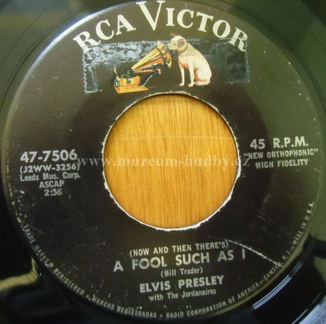 """Elvis Presley: (Now And Then There's) A Fool Such As I / I Need Your Love Tonig - Vinyl(45"""" Single)"""