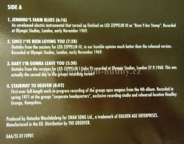 Led Zeppelin In Through The Outtakes Product Detail