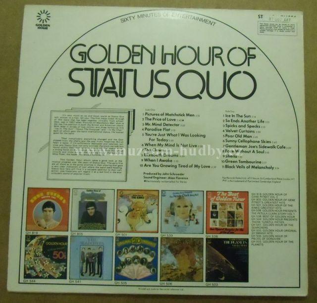 Status Quo Golden Hour Of Status Quo Online Vinyl Shop