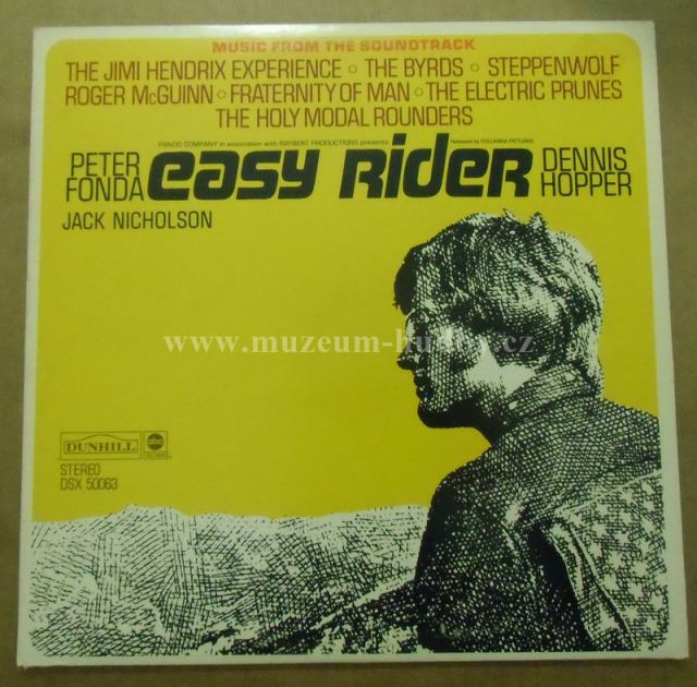 "Steppenwolf / Smith / Byrds / Holy Modal Rounders / Fraternity Of Man / Jimi Hendrix Experience / Electric Prunes / Roger McGuinn: Easy Rider - Vinyl(33"" LP)"