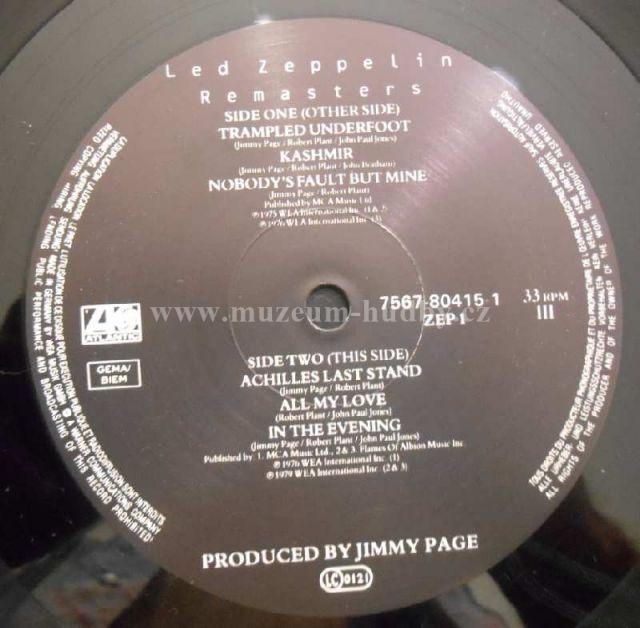 Led Zeppelin Remasters Online Vinyl Shop Gramofonov 233 Desky