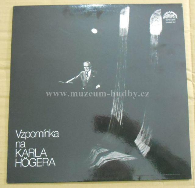 """Karel Höger: Vzpomínka Na Karla Högera - Vinyl(33"""" LP)"""