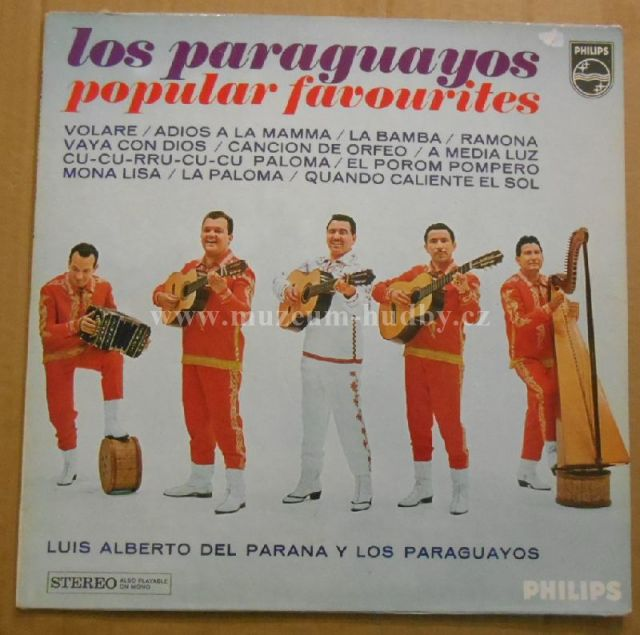 """Luis Alberto del Parana y Los Paraguayos: Los Paraguayos - Popular Favourites - Vinyl(33"""" LP)"""