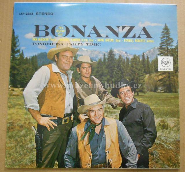 "Lorne Greene, Michael Landon , Pernell Roberts, Dan Blocker: Bonanza - TV's Original Cast - Vinyl(33"" LP)"
