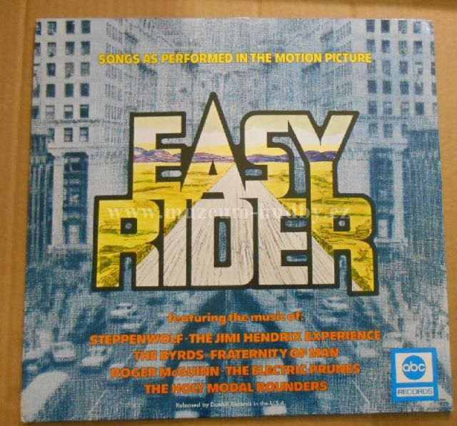 "Steppenwolf / Smith / Byrds / Holy Modal Rounders / Fraternity Of Man / Jimi Hendrix Experience / Electric Prunes / Roger McGuinn: Easy Rider (Music From The Motion Picture) - Vinyl(33"" LP)"