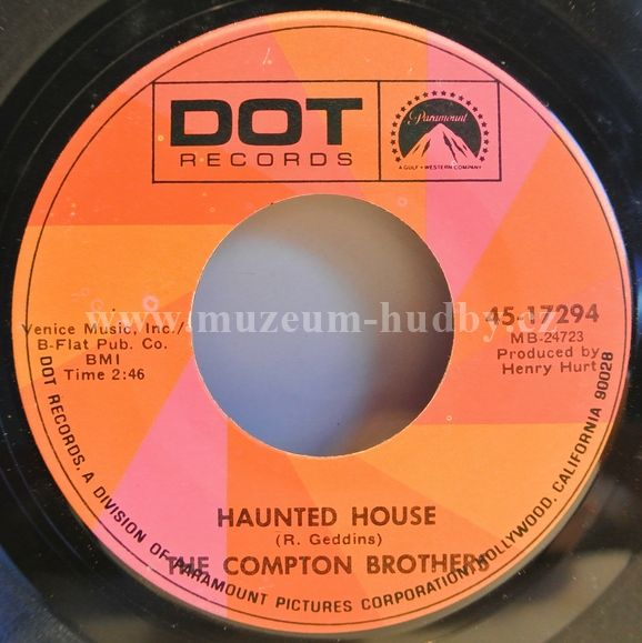 "Compton Brothers, The: Haunted House / Sound Of An Angel's Wings - Vinyl(45"" Single)"