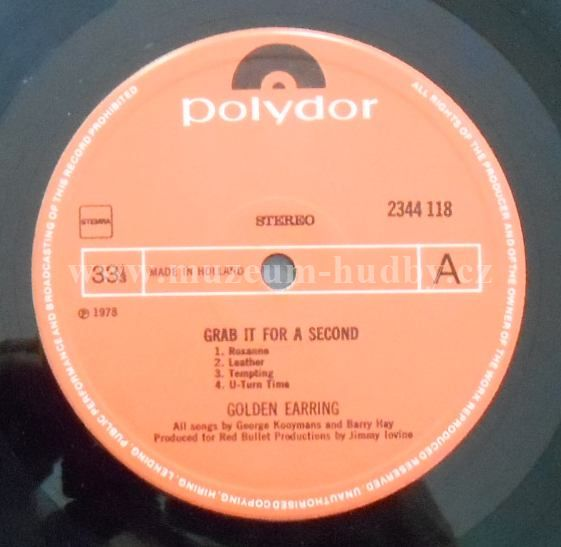 golden earring grab it for a second vinyl shop