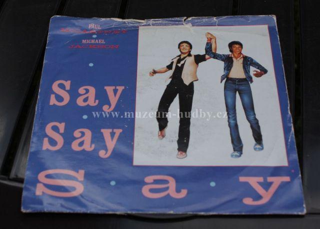 "Paul McCartney & Michael Jackson: Say Say Say - Vinyl(45"" Single)"