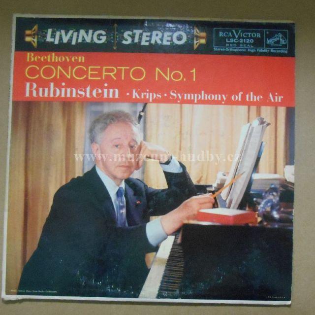 "Ludwig Van Beethoven, Arthur Rubinstein, Josef Krips: Symphony Of The Air – Concerto No.1 In C, Op. 15 - Vinyl(33"" LP)"