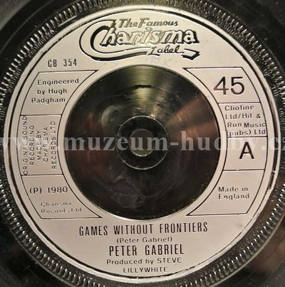 """Peter Gabriel: Games Without Frontiers / The Start / I Don't Remember - Vinyl(45"""" Single)"""