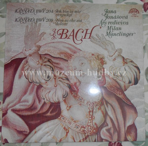 "Bach - Jana Jonášová, Ars Rediviva, Milan Munclinger: Cantatas (Ich Bin In Mir Vergnügt / Non Sa Che Sia Dolore) - Vinyl(33"" LP)"