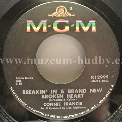 "Connie Francis: Breakin' In A Brand New Broken Heart / Someone Else's Boy - Vinyl(45"" Single)"