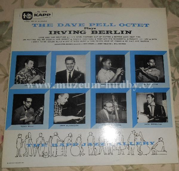 "Dave Pell Octet: The Dave Pell Octet Plays Irvin Berlin - Vinyl(33"" LP)"