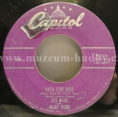 """Les Paul And Mary Ford: Vaya Con Dios / Johnny (Is The Boy For Me) - Vinyl(45"""" Single)"""