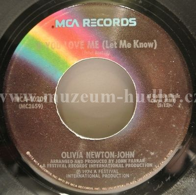 "Olivia Newton-John: If You Love Me (Let Me Know) / Brotherly Love - Vinyl(45"" Single)"