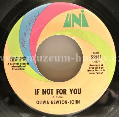 "Olivia Newton-John: If Not For You / The Biggest Clown - Vinyl(45"" Single)"