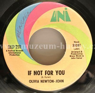"Olivia Newton-John: If Not For You / The Biggest Clown - Vinyl(45"" Single)"
