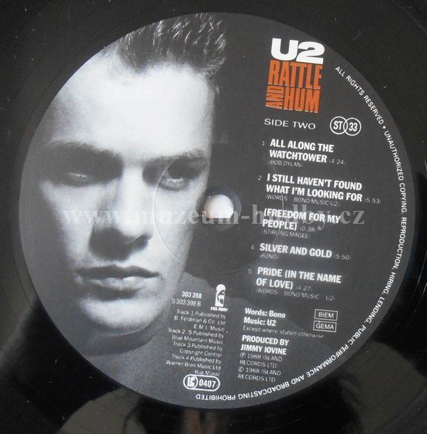 U2-Rattle And Hum | online vinyl shop, gramofonové desky