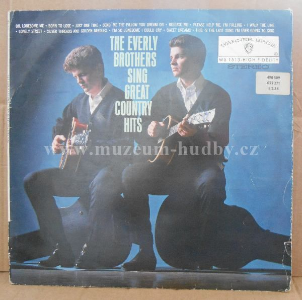 """Everly Brothers: Sing Great Country Hits - Vinyl(33"""" LP)"""