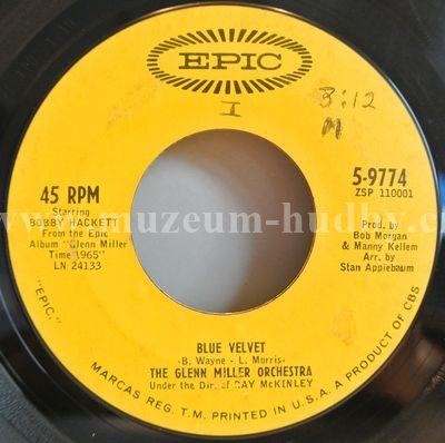 """Glenn Miller Orchestra, The: Blue Velvet / Canadian Sunset - Vinyl(45"""" Single)"""