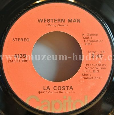 """La Costa: Western Man / Rescue Me - Vinyl(45"""" Single)"""