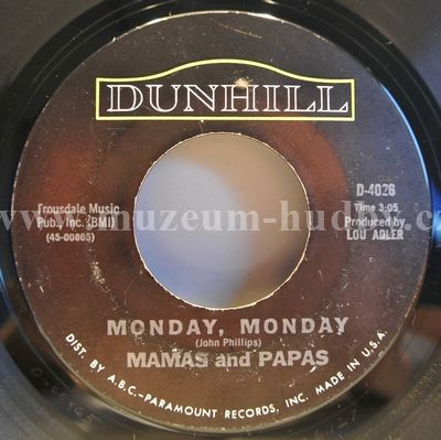 "Mamas And The Papas, The: Monday, Monday / Got A Feelin' - Vinyl(45"" Single)"