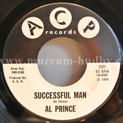 "Al Prince: Successful Man / The Window Pane - Vinyl(45"" Single)"