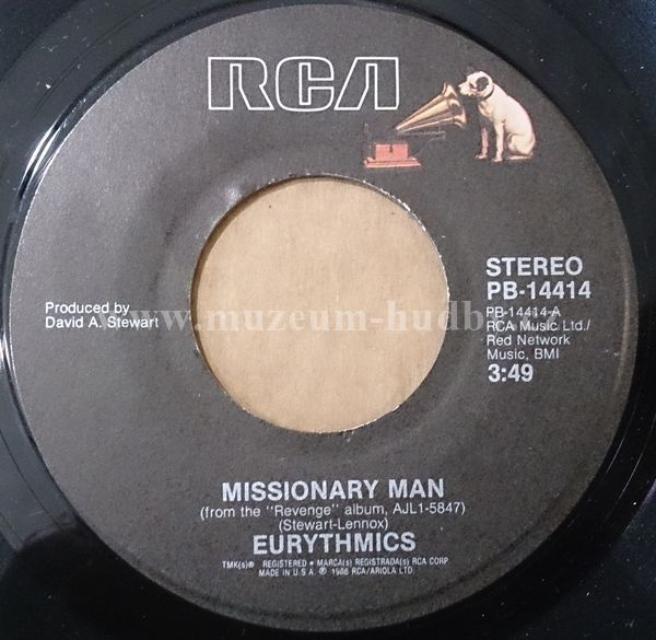"Eurythmics: Missionary man / Take your pain away - Vinyl(45"" Single)"