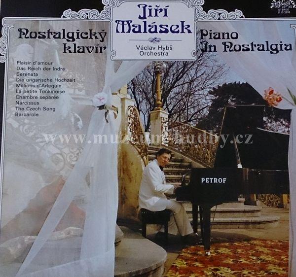 "Jiří Malásek, Václav Hybš Orchestra: Nostalgický Klavír / Piano In Nostalgia - Vinyl(33"" LP)"