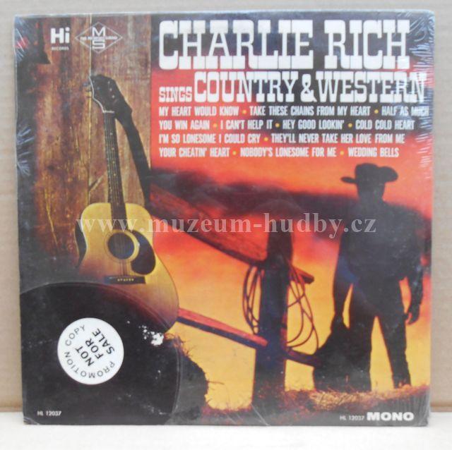 "Charlie Rich: Charlie Rich Sings Country & Western - Vinyl(33"" LP)"