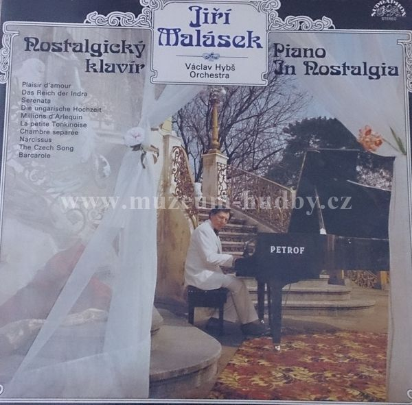 "Jiří Malásek / Václav Hybš Orchestra: Nostalgický Klavír / Piano In Nostalgia - Vinyl(33"" LP)"