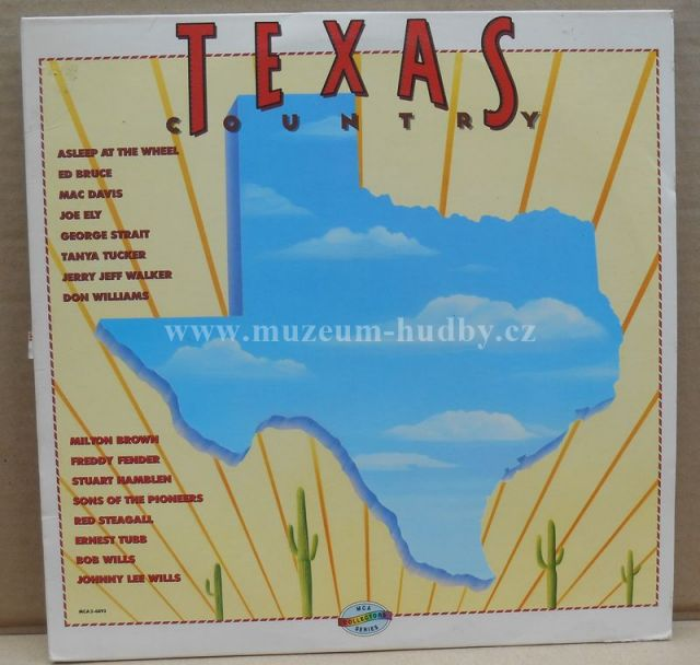 "Milton Brown And His Brownies,Jerry Jeff Walker,Bob Wills,Freddy Fender: Texas Country (Texas Sesquicentennial Edition) - Vinyl(33"" LP)"