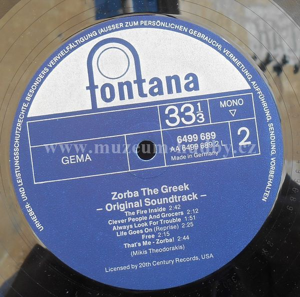 Mikis Theodorakis Zorba The Greek Original Soundtrack