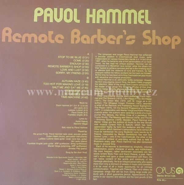 Pavol Hammel - Remote Barber's Shop